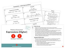expressions higher mastery sment