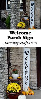 dress up your front porch and make guests feel welcome with this diy welcome porch sign