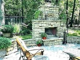 prefab outdoor wood burning fireplace kits