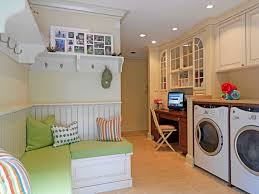 Inspiration for a timeless utility room remodel in DC Metro with beige  cabinets