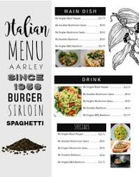 Online Menu Maker Quick And Free Postermywall