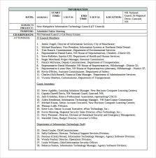 Meeting Summary Sample Meeting Minutes Templates Free Sample Customer Service Resume