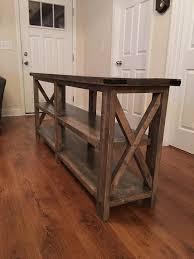 Farmhouse sofa Table Diy Unique Build A Rustic X Console with 2 X 4s