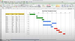 30 Gannt Chart In Excel Andaluzseattle Template Example