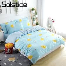 light blue and white duvet cover solstice home textile kids child bedding set en cartoon pillow