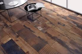 using fioranese recycled wood effect tiles in a living room setting keeps the space cozy with the warmth of wood but offers the easy maintenance of