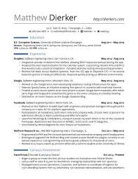 Resume Template Software Real Software Engineering Internship Resume Template Resume