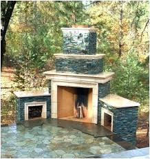 prefabricated outdoor fireplace prefab kits chic image of stacked stone ideas modular kit