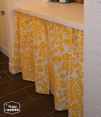 No Sew Curtains Diy A No Sew Curtain In The Laundry Room The Happy Housie