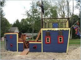 pirate ship playhouse wood