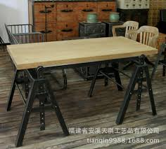 american retro style industrial furniture desk. perfect desk american industrial loftstyle retro furniture wrought iron wood pine  tables combine rustic style with retro style industrial furniture desk t