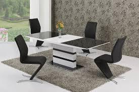 arctic black white 160cm to 220cm extending table
