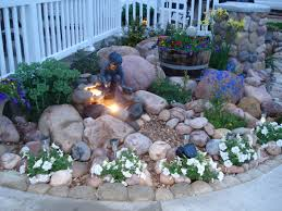 Outdoor Living:Rock Garden Lighting Idea Design Creative Rock Garden Ideas