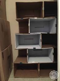 Decorating Cardboard Boxes DIY Cardboard Bookcase Happily Ever After Etc 100