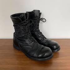 vintage corcoran black leather military combat boots men s 12