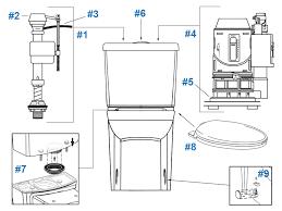 american standard toilet repair parts