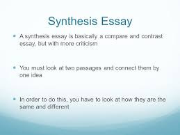 what is a synthesis essay ppt video online 2 synthesis
