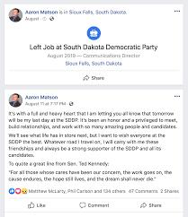South Dakota Democrat Party parts ways with communication director Aaron  Matson – South Dakota War College