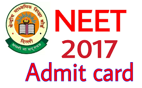 Image result for neet admit card download 2017