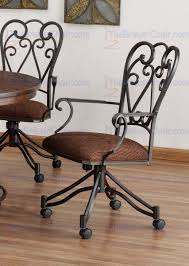 swivel dining chairs with casters. Tempo Industries Veronica Swivel \u0026 Tilt Dining Arm Chair With Casters Chairs .