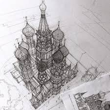 architectural. Delighful Architectural Architecture Student Adelina Gareeva Drafts Her Work By Hand Creating  Extremely Detailed Architectural Portraits Putting Pencil To Paper Rather Than  Throughout Architectural