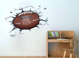 wall decals football football ball sticker on the wall decal effect football  ball sticker on the . wall decals football personalised ...