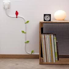 Decoration Idea to Hide the Wires in Your Home