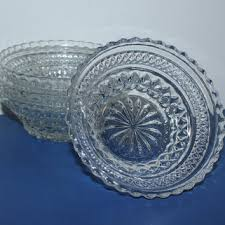anchor hocking wexford clear pressed glass bowls set of 4 ber vintage glass