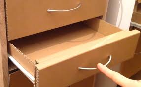 Corrugated Cardboard Furniture How To Make A Cardboard Drawer Corrugated Cardboard Furniture
