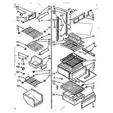 kenmore ice maker parts diagram unique kenmore coldspot refrigerator Kenmore Laundry Center Wiring Diagrams at Kenmore Coldspot Fridge Wiring Diagram