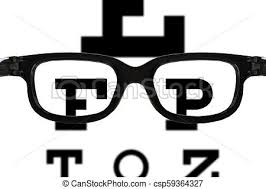 Blurry Eye Test Chart Glasses Sight Test
