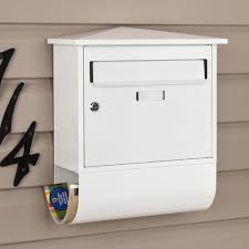 castle locking wall mount mailbox with