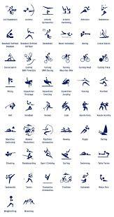 I simboli degli sport per le olimpiadi Tokyo 2020 ...