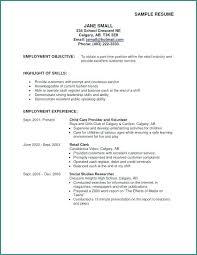 Good Resume Objective Resume General Objectives Resume General