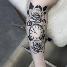 Tetování Růže A Hodiny