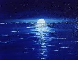 moon painting starry moonlit night on the water by stanley whitehouse