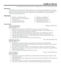 Security Officer Resume Duties Security Guard Resume Sample Security ...
