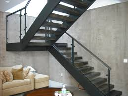 3 story steel glass wood contemporary staircase