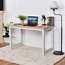 Image Shaped Home Office Desks Amazoncom Amazoncom Chefjoy Computer Desk Pc Laptop Table Wood Workstation