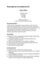 Resume Functional Resume Vs Chronological