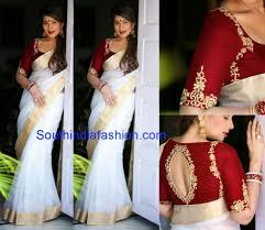 Boutique Blouse Designs 2014 Shreedevi In Elegant White Saree Sari Blouse Designs Set