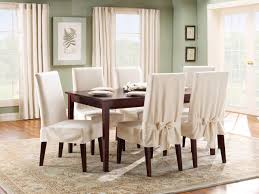 fair image of dining room decoration with various dining chair slip covers