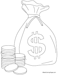 Small Picture A bag of coins coloring pages Download Free A bag of coins