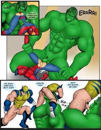 Hulk fucking spiderman gay