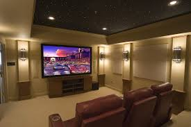 dark media room. Dark Media Room Ceiling Home Theater Contemporary With Microfiber Sectional Sofas I