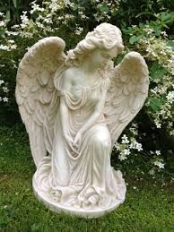 fairy garden statues. Graciously Designed Angel Kneeling With The Expression Deep In Thought She Is A Superb Statue For · Garden StatuesFairy Fairy Statues