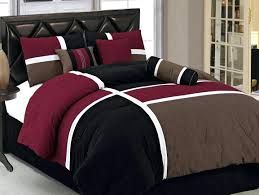 wine colored bedding sets burdy brown black quilted patchwork bed in a bag comforter burdy brown wine colored bedding sets