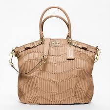 Coach madison gathered leather lindsey satchel