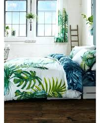 palm leaf bedding botanical palm leaves king size duvet cover and pillowcase set palm leaf pattern