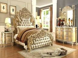 White And Gold Bedroom Sets Rose Set Black Bed – Chaoruan